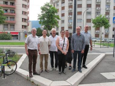 Le groupe d'habitants du quartier Foch-Aigle-Libération qui a planché sur le plan Vélos-Piétons, jeudi 11 juillet 2019 © Séverine Cattiaux - Placegrenet.fr