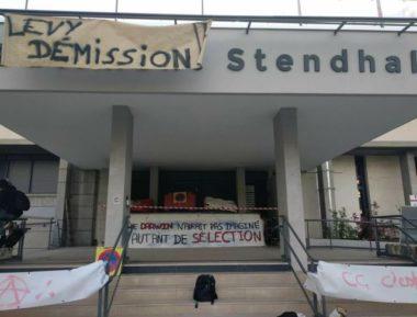 Mobilisation étudiante contre la sélection à l'entrée de l'université, avril 2018 © Unef Grenoble