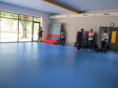Salle de motricité dans l'extension de l'école maternelle Buffon, jeudi 18 juillet 2019, qui sera partagée avec les associations en dehors des heures d'école © Séverine Cattiaux - Placegrenet.fr