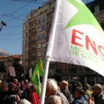 Ensemble ! lors d'une manifestation contre les ordonnances Macron portant la réforme du code du travail. © Ensemble !
