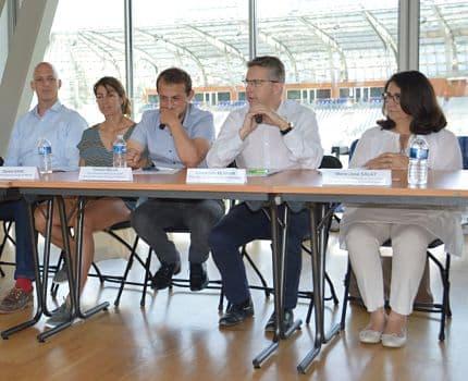 Conférence de presse premier bilan Coupe du monde féminine - stade des Alpes 4 juillet 2019. © Laurent Genin