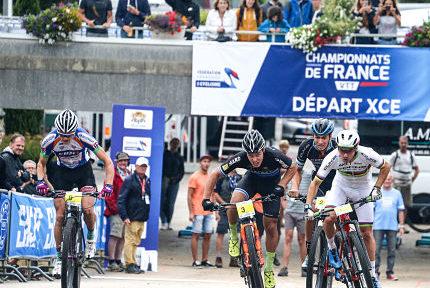Finale hommes championnats de France de VTT cross-country en 2018. © FFC - Patrick Pichon