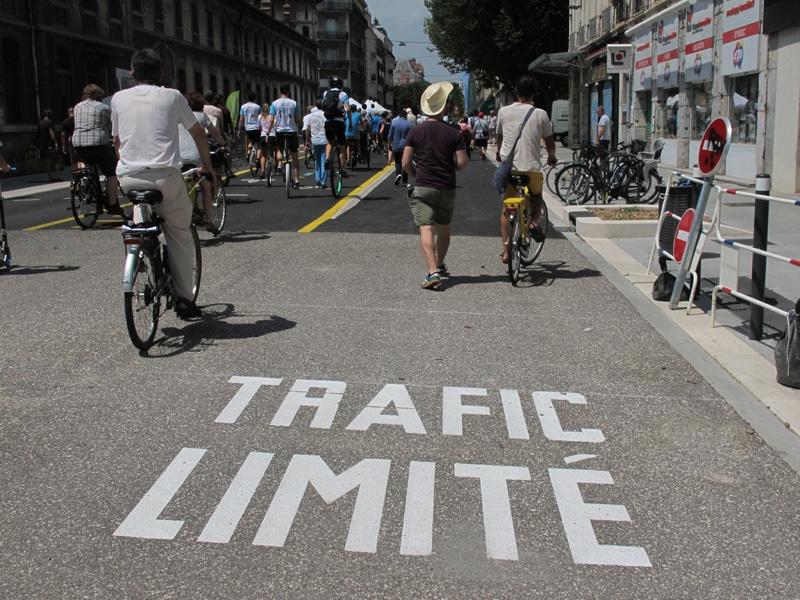 Les Chronovélo pour un objectif de « zéro véhicules thermique » à Grenoble d'ici 2040 ? © Séverine Cattiaux - Place Gre'net