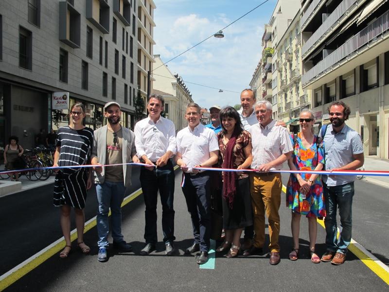 Inauguration en 2019 du tronçon de la Chronovélo sur les boulevards Sembat-Lyautey © Séverine Cattiaux - Place Gre'net