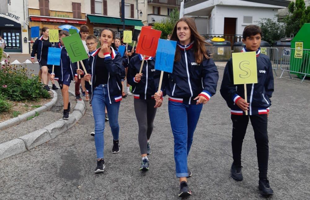 Arrivée à Villard-de-Lans des élèves de la classe Alice Milliat - Pierre de Coubertin © Rectorat de Grenoble