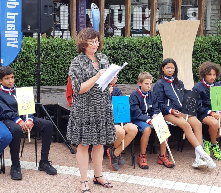 La rectrice de l'académie de Grenoble Fabienne Blaise lors de la cérémonie de lancement de la classe Alice Milliat - Pierre de Coubertin © Rectorat de Grenoble