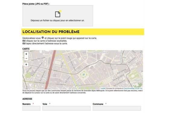 Le site permet de géolocaliser l'emplacement du problème signalé.