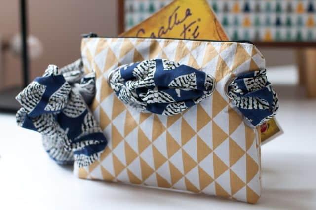 La pochette foulard de l'Atelier Gustave mise en avant par les Etsy Design Awards.