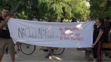 Près de 150 personnes ont défilé dans Grenoble ce 2 août en hommage à Steve Maia Caniço décédé après une intervention controversée des forces de l'ordre © Joël Kermabon - Place Gre'net