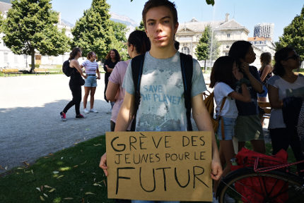 Robin Jullian - Youth for climate Grenoble. © Joël Kermabon - Place Gre'net