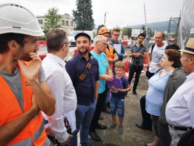 Visite de chantier du pôle d'échanges multimodal. © Joël Kermabon - Place Gre'net