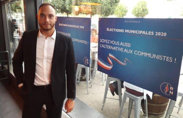 Alexis Jolly, candidat à la mairie d'Echirolles en mars 2020