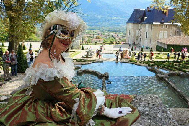 Les Journées européennes du patrimoine sont l'occasion d'un déferlement de rendez-vous sur l'ensemble du territoire de l'Isère.Les costumés de Venise au château du Touvet. © Département de l'Isère