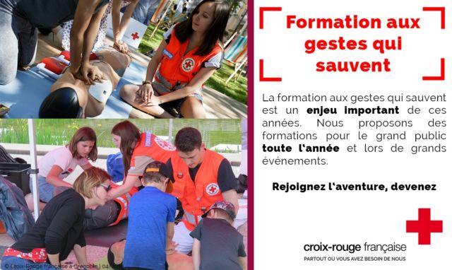 La Croix-Rouge de Grenoble lance une campagne d'appel aux bénévoles pour pouvoir assurer ses missions de secours, de formation et de solidarité.Visuel d'appel aux bénévoles de la Croix-Rouge © Croix-Rouge