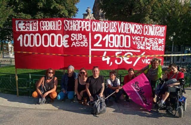 Rassemblement du collectif Noustoutes38 à Grenoble le 3 septembre 2019 © Joël Kermabon - Place Gre'net Noustoustes38 place Victor Hugo le 3/09