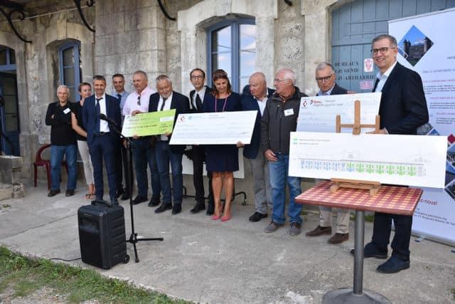 Inauguration des travaux de restauration du Fort de Comboire le 3 septembre 2019 en présence des donateurs © Ville de Claix