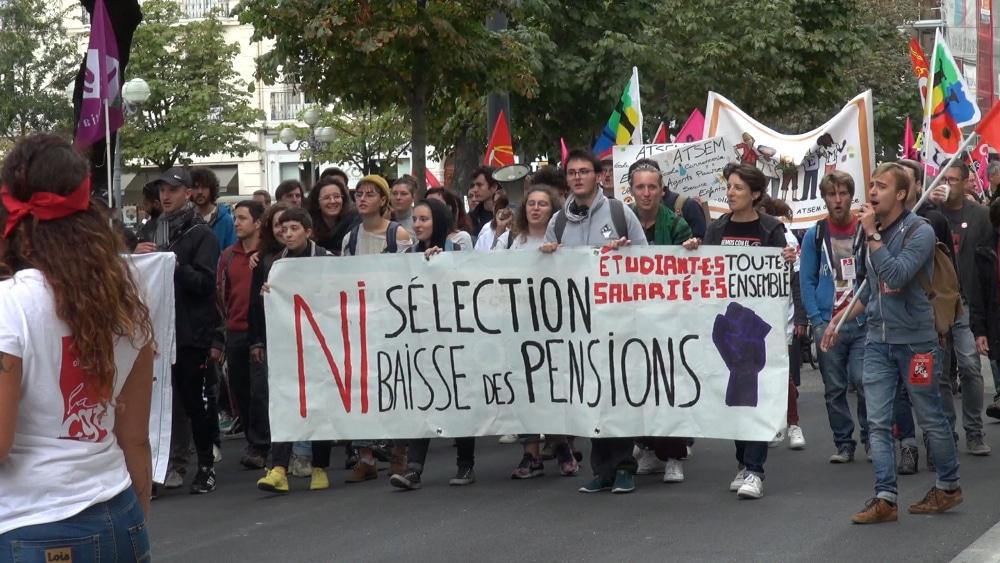 Manifestation de défense des régimes spéciaux de retraite le 24 septembre à Grenoble © Joël Kermabon - Place Gre'net