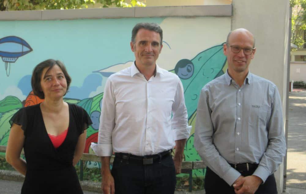 Élisa Martin, Éric Piolle et Fabien Malbet © Florent Mathieu - Place Gre'net