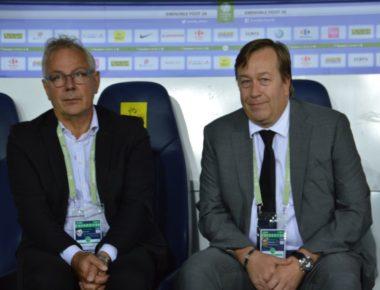 Stéphane Rosnoblet, à droite, président du GF38. © Archive Laurent Genin