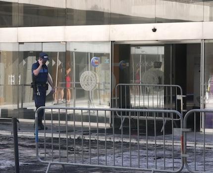 Un incendie a détruit la salle du conseil municipal de l'Hôtel de ville de Grenoble, le 30 septembre 2019.