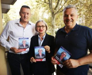De gauche à droite : Gilles Musset,Mireille d'Ornano et Alain Bonnet. © Joël Kermabon - Place Gre'net