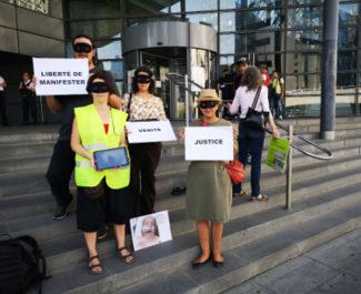 Des membres du CAR38 dénoncent un procès injustifié. © Joël Kermabon - Place Gre'net