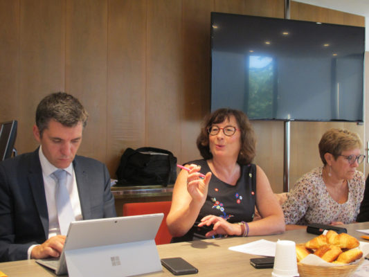 Conférence de presse au rectorat de l'académie de Grenoble sur le thème de la rentrée 2019, au centre Fabienne Blaise, rectrice de l'académie de Grenoble. © Séverine Cattiaux - Place Gre'net