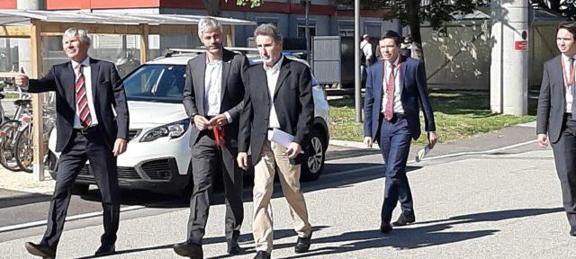 Laurent Wauquiez, à son arrivée au CEA