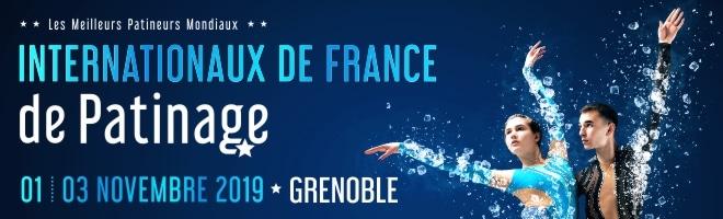 Internationaux de France de patinage du 1er au 3 novembre 2019 à Grenoble