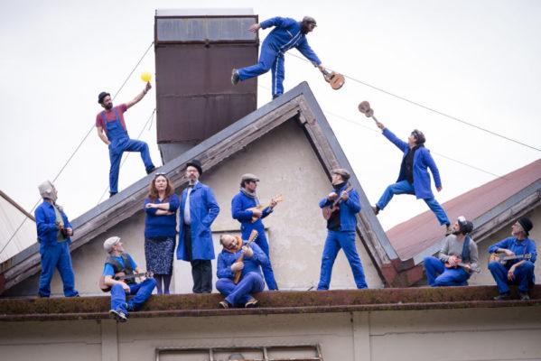 Le groupe Big Ukulele Syndicate ©Nadine Barbançon En résidence au Diapason de Saint-Marcellin en février 2018
