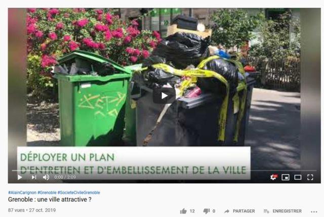 Poubelle la vie ? - Capture d'écran de la chaîne YouTube d'Alain Carignon