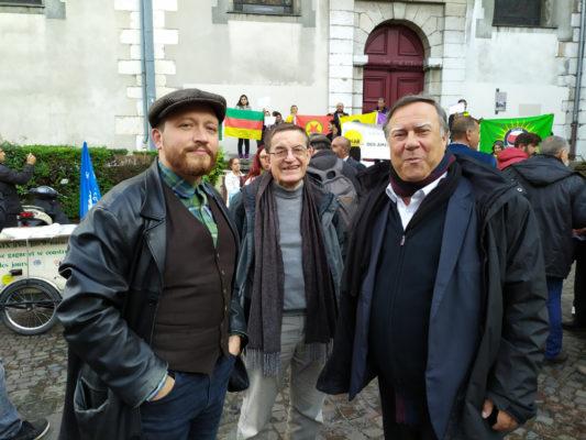 Antoine Back et Bernard Macret, membres du collectif Ensemble! Grenoble Métropole. © EGM