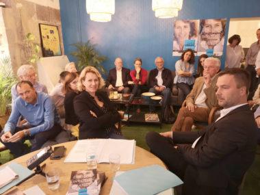 Émilie Chalas et Olivier Six lors du lancement de la campagne. © Joël Kermabon - Place Gre'net