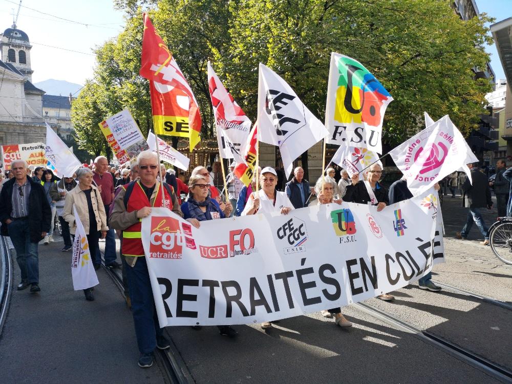 Les retraités de l'Isère se donnent rendez-vous place Verdun à Grenoble mardi 17 novembre © Joël Kermabon - Place Gre'net