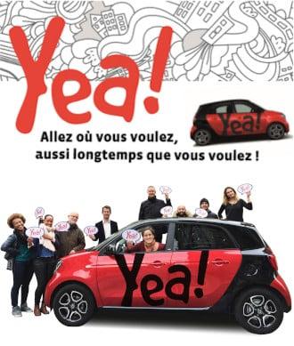 Avec Yea! Citiz allez où vous voulez, aussi longtemps que vous voulez depuis Grenoble !