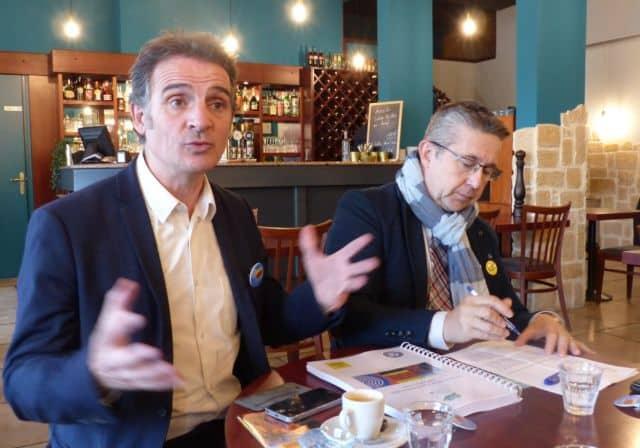 Éric Piolle et Christophe Ferrari présentent la campagne de Grenoble au titre de Capitale verte de l'Europe 2022 © Florent Mathieu - Place Gre'net