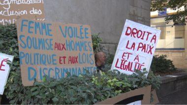 De nombreuses pancartes veulent dénoncer l'islamophobie. © Joël Kermabon - Place Gre'net