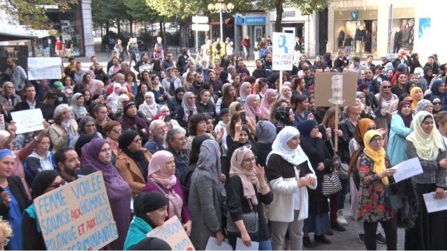 Marche contre l'islamophobie à Grenoble le 27 octobre 2019. © Joël Kermabon - Place Gre'net