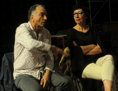 Les auteurs et metteurs en scène Ali Djilali et Pascale Henry, animateurs d'ateliers au théâtre Prémol © Florent Mathieu - Place Gre'net