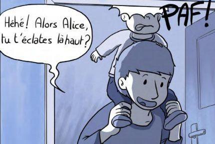"""Les illustrateursLolopouet et LePueblo mènent actuellement une campagne de financement sur Ulule pour éditer et distribuer la bande dessinée """"Etre Papa""""."""