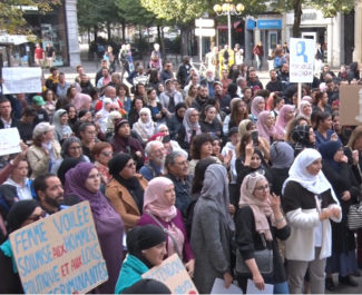 Manifestation contre l'Islamophobie. © Joël Kermabon - Place Gre'net