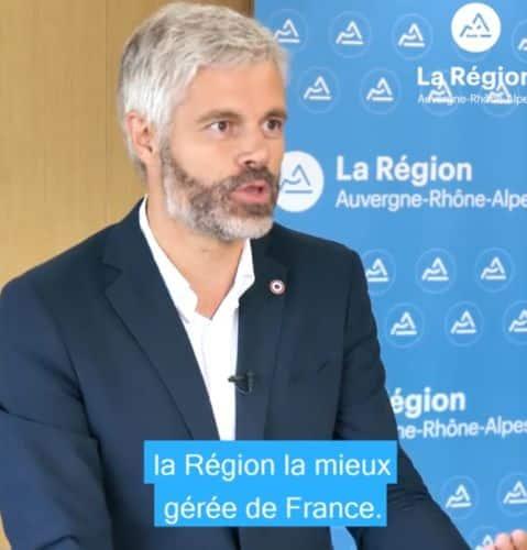 « Auvergne-Rhône-Alpes est clairement la région la mieux gérée de France », affirme Laurent Wauquiez dans une vidéo. © Région Auvergne-Rhône-Alpes