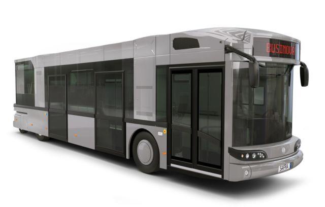 Visuel du bus hybride électrique et gaz rechargeable © Safra