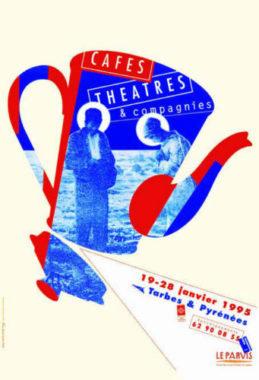 Affiche Alain Le Quernec «Cafés, théâtres et compagnies», en 1995
