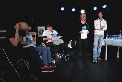 Le collectif A Fleur de peau s'est réuni le 24 novembre pour exposer ses projets pour la scolarisation des enfants autistes Asperger © Raphaëlle Denis - Place Gre'net