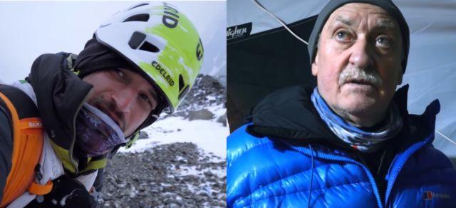 Les deux alpinistes Adam Bielecki et Krzysztof Wielicki se verront remettrer la médaille d'or de la Ville de Grenoble vendredi 8 novembre 2019.Adam Bielecki et Krzysztof Wielicki, images tirées du film The Last Mountain.
