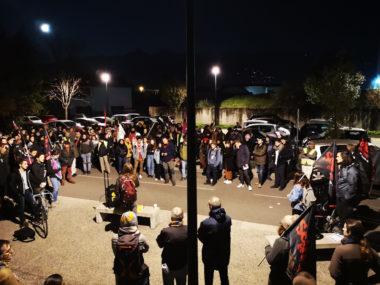 Près de 150 personnes mobilisées pour dénoncer la précarité étudiante. © Joël Kermabon - Place Gre'net