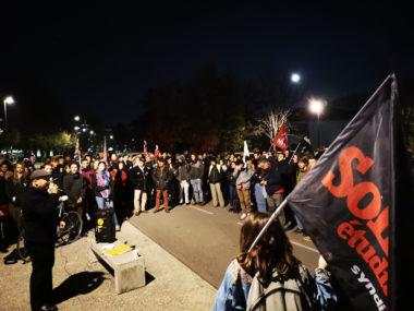 Manifestation contre la précarité étudiante. © Joël Kermabon - Place Gre'net
