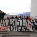 Le CHUGA, toujours en grève, a organisé le 30 novembre une action de sensibilisation aux problématiques de la crise des urgences. © Raphaëlle Denis - Place Gre'net