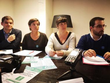 De gauche à droite : Maxime Gonzalez, Michelle Daran, Cécile Cenaitempo et David Bousquet. © Joël Kermabon - Place Gre'net